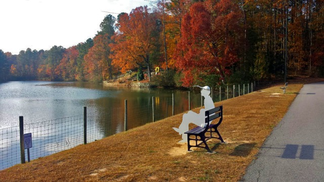 Fall colors in Gwinnett County outside Atlanta.