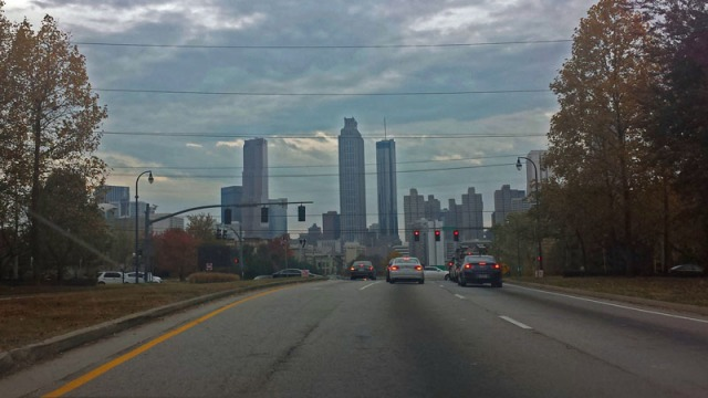 Atlanta skyline from Old Fourth Ward neighborhood