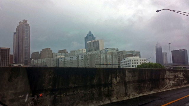 Atlanta skyline from the Downtown Connector
