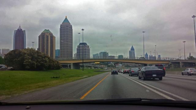 Midtown Atlanta skyline from the Downtown Connector