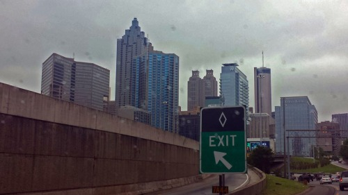 Downtown Atlanta skyline from the Downtown Connector
