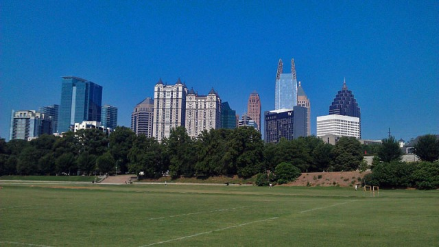 Atlanta skyline from Piedmont Park