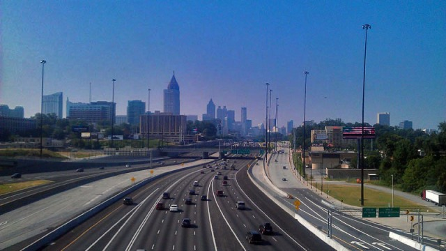 Atlanta skyline from the 17th Street Bridge