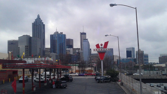 Atlanta skyline - from The Varsity