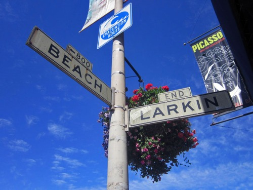 Vintage San Francisco street signage @ Fisherman's Wharf