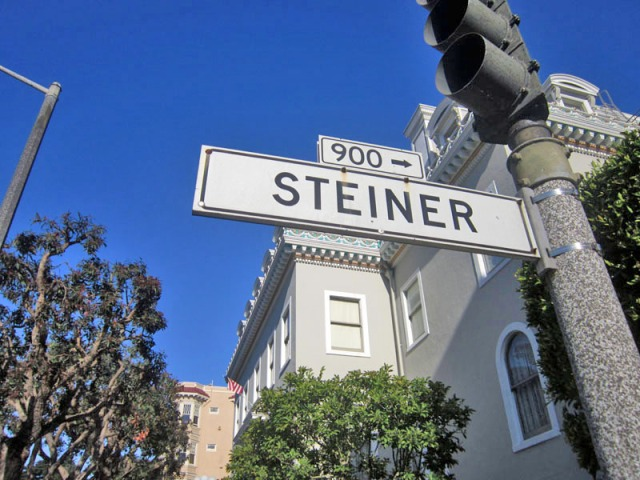 Vintage San Francisco street signage