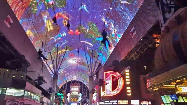 Fremont Street Experience - Viva Vision Light Show , The D Las Vegas