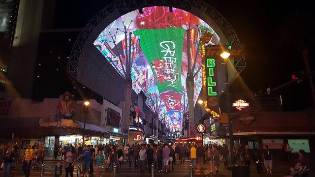 Fremont Street Experience - Viva Vision Light Show, Green Day