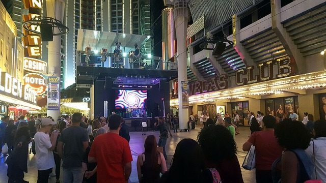 Fremont Street Experience in Downtown Las Vegas, Nevada