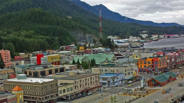 Ketchikan, Alaska from the Celebrity cruise ship