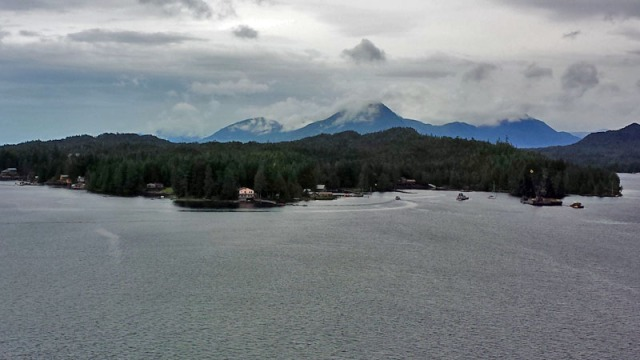 Ketchikan in the Inside Passage of Alaska