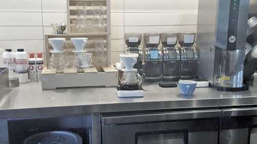 Sambalatte Torrefazione pour over coffee on the Las Vegas Strip