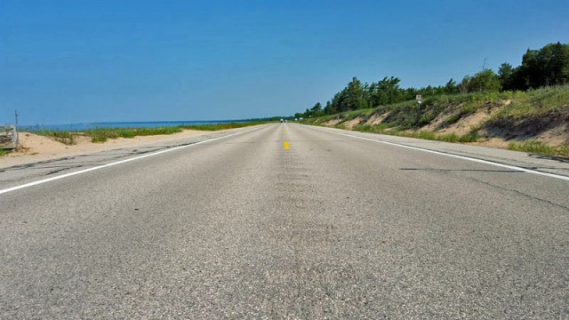 U.S. Route 2, Lake Michigan shoreline - Upper Peninsula, Michigan