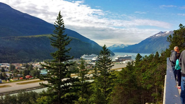 Skagway Alaska, scenic viewing area, Alaskan cruise excursion