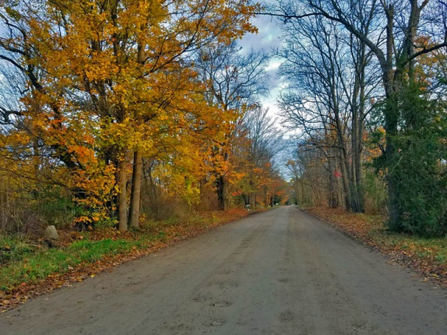 n 2017 - Out on the open Ann Arbor area dirt road