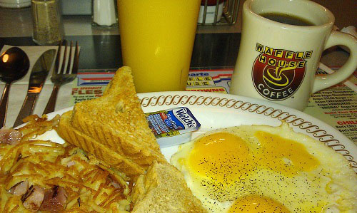 Day road trip tips - stop at a Waffle House