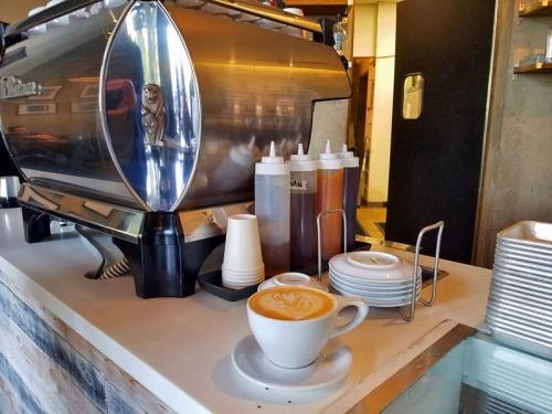 Latte at Condesa Coffee in Atlanta