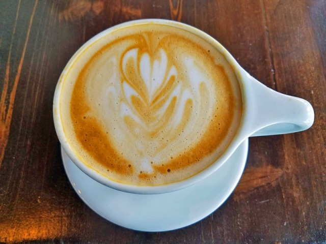 Latte at Condesa Coffee in Atlanta