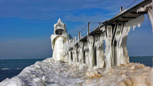 North Pier Outer Lighthouse in St. Joseph, Michigan
