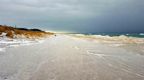 Beach along Silver Lake Sand Dunes in Michigan