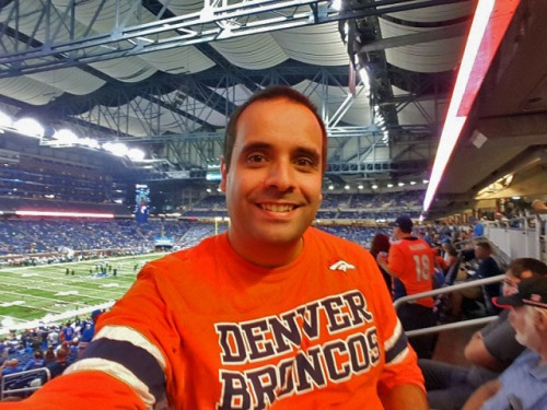 About Me elATLboy - watching the Denver Broncos play the Detroit Lions at Ford Field