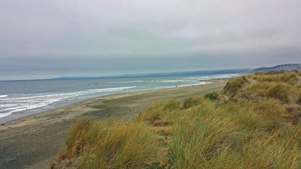 San Francisco Ocean Beach in California along Pacific Ocean