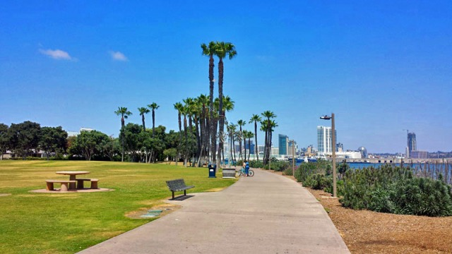 San Diego: A Million Skyline Looks from Tidelands Park on Coronado Island