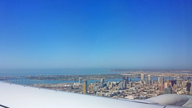 San Diego: A Million Skyline Looks, from the friendly skies