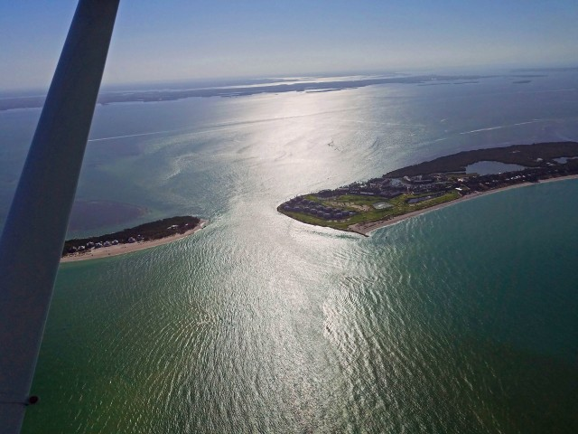 North Captiva Island and Captiva, Pine Island Sound sits beyond, Florida