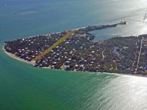 Grassy runway, North Captiva Island, Florida