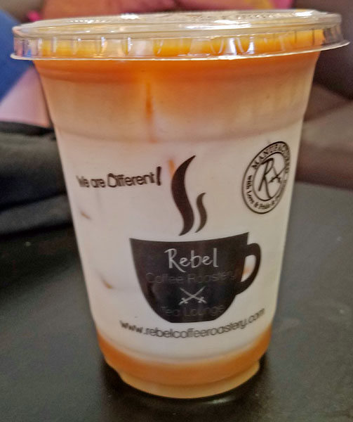 Rebel Coffee, Fort Myers, Florida, refreshing iced coffee