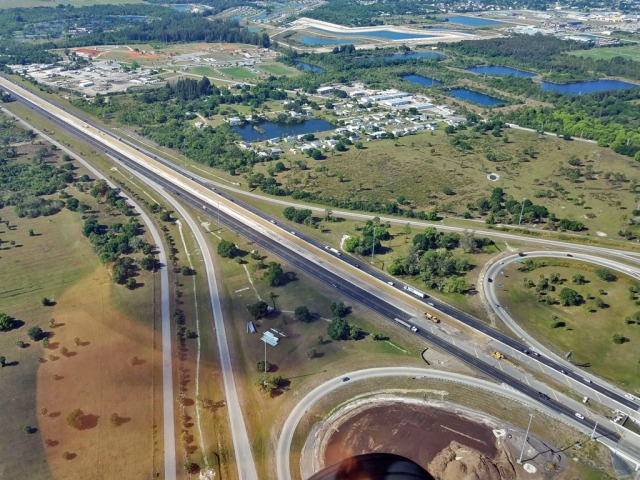 I-75 cloverlead interchange in Southwest Florida.