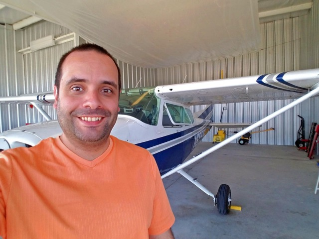 Selfie from hanger at Punta Gorda Airport, Florida