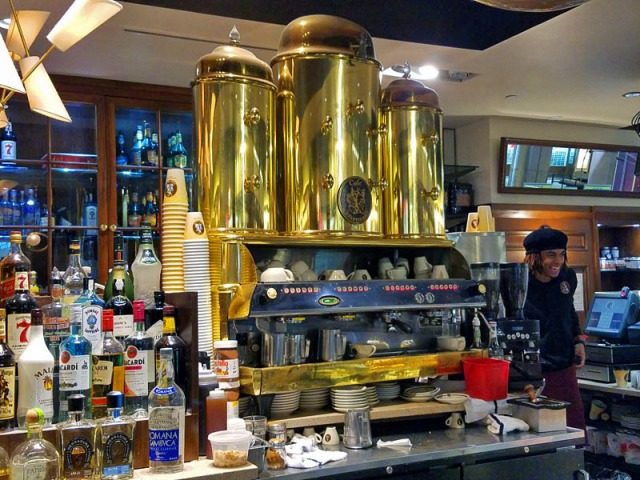 Cafe Intermezzo, Concourse B, Atlanta airport, Italian espresso machine