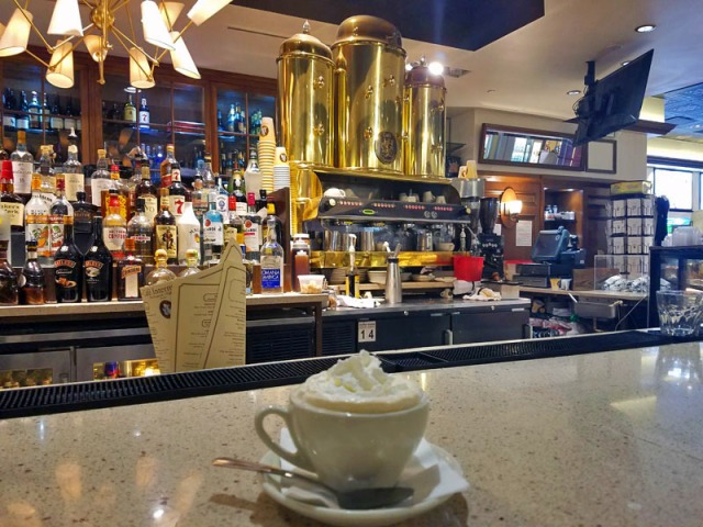 Cafe Intermezzo, Concourse B, Atlanta airport, Irish coffee