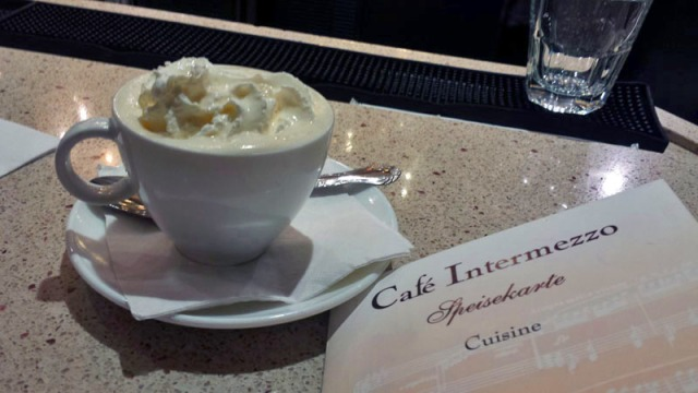Cafe Intermezzo, Concourse B, Atlanta airport, Irish coffee with Jameson whiskey