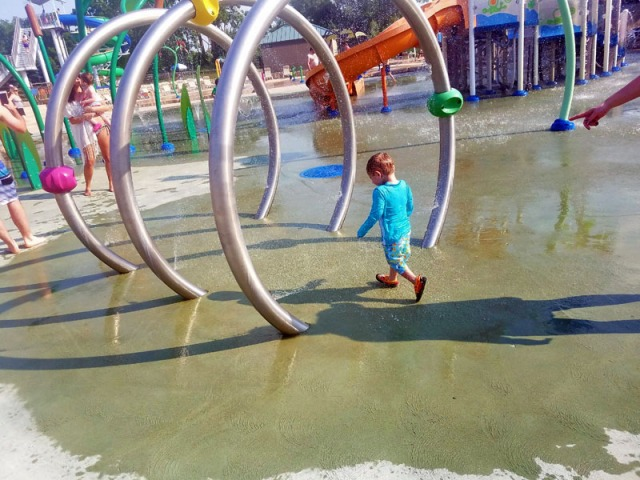 My little man at the water park.