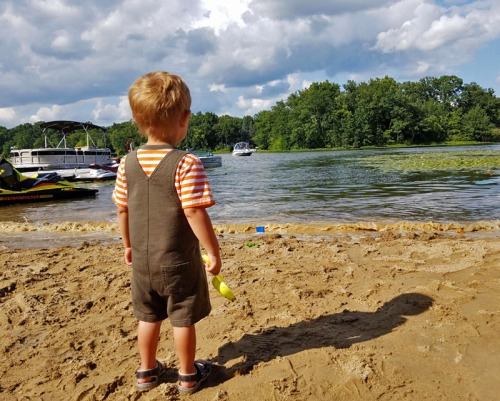 My little man is experiencing true Pure Michigan summer and family travel every weekend