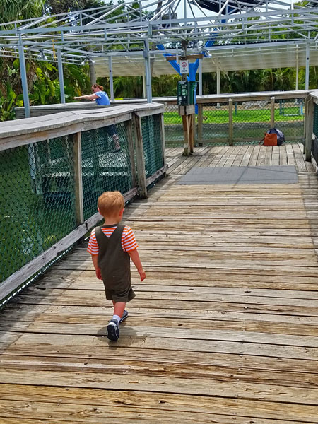 My little man just wants to explore and see what lies ahead.