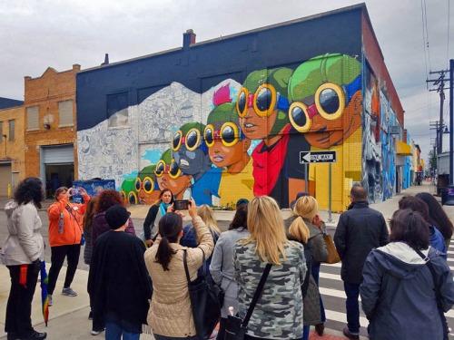 Flyboys mural, Hebru Brantley in Eastern Market, Detroit