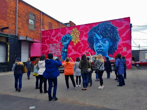 Murals in the Market, Eastern Market, Detroit, Brandan BMike Odums mural