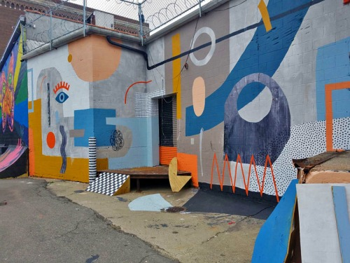 Murals in the Market, 3-D mural by Ellen Rutt, Eastern Market, Detroit