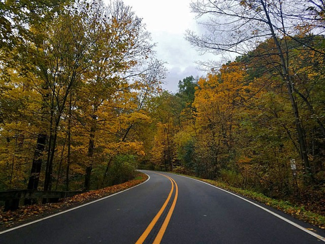 Fall Roadtrip along Huron River Drive in Ann Arbor, Michigan