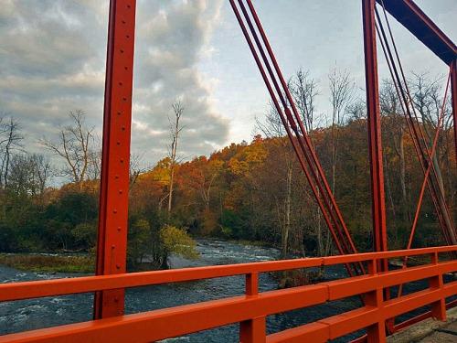Historic Delhi road bridge, Ann Arbor, Michigan