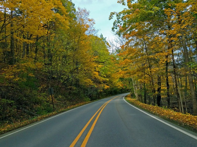 Ann Arbor, Michigan Fall along Huron River Drive